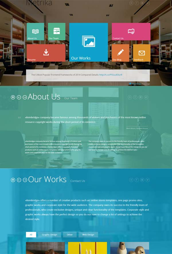 Metrika-wordpress-theme