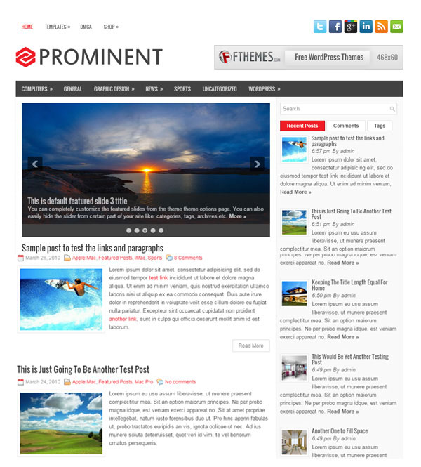 Prominent-wordpress-theme