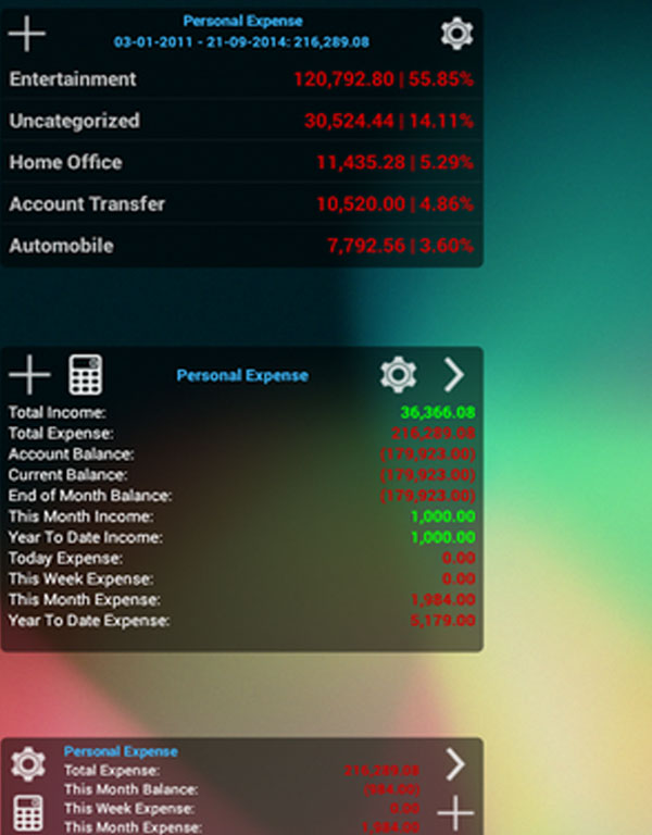 Expense Manager Android Apps