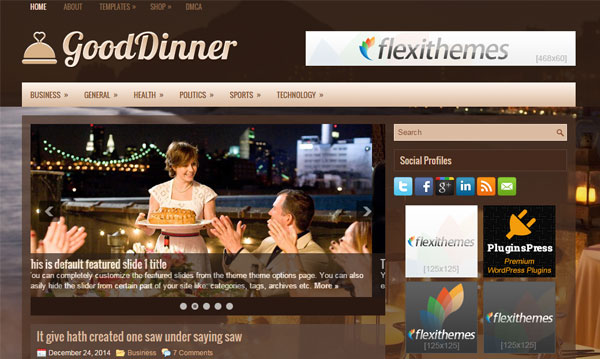 gooddinner-wordpress-theme